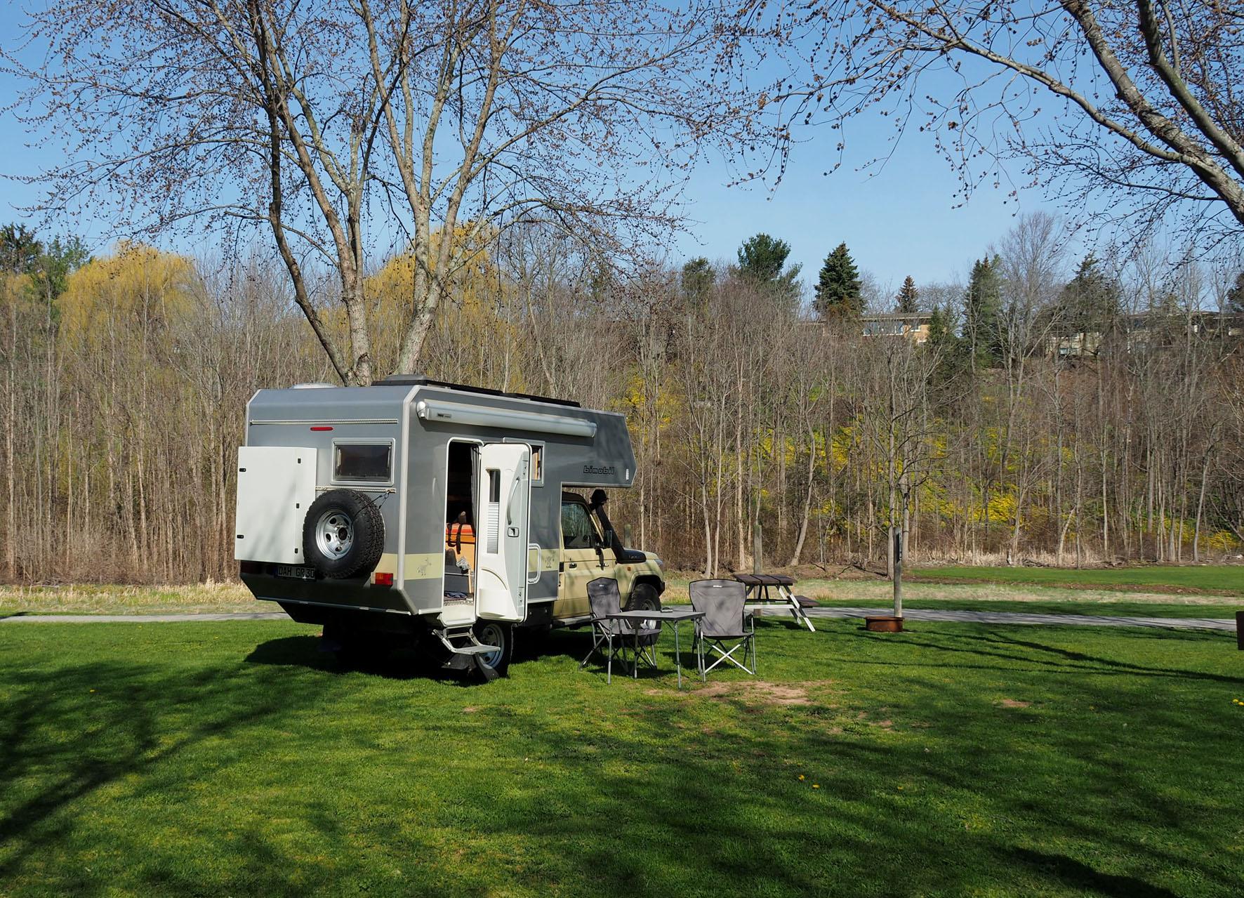 ein Hauch von Frühling im Mikroklima der Niagara Falls