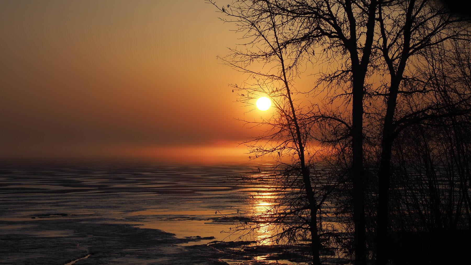 Morgenstimmung Übernachtungsplatz am Strand Manitoulin