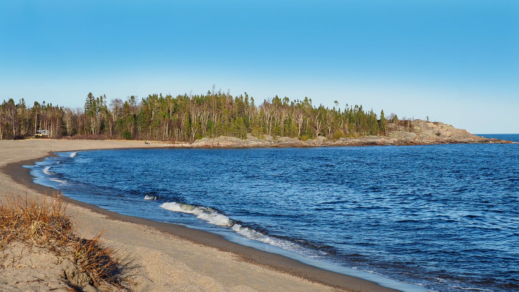 Lake Superior, Schlafplatz bei Terrace bay