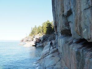 Agawa: Felswand mit Malereien