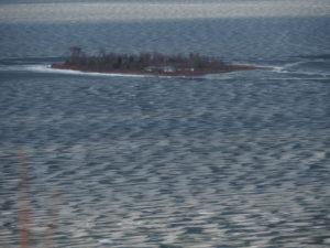 Eis im nördlichen Teil von Manitoulin