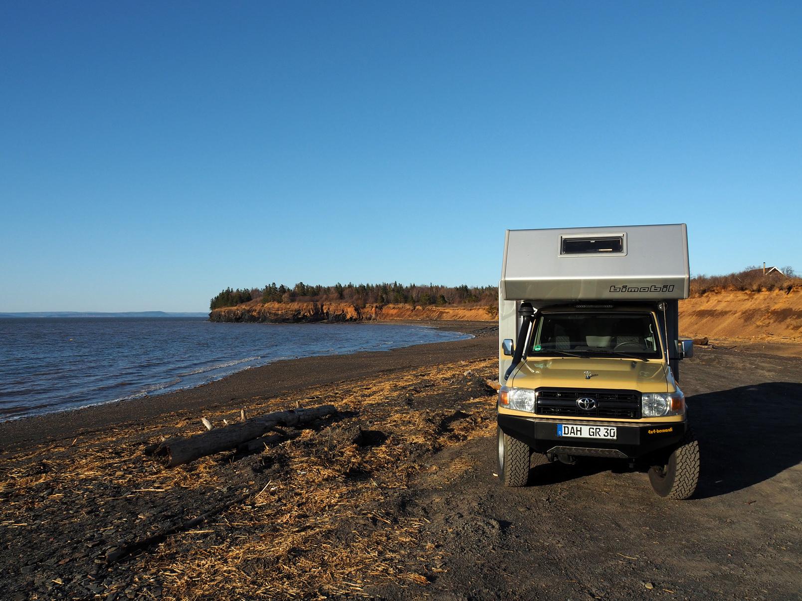 Fundy Bay, toller Übernachtungsplatz