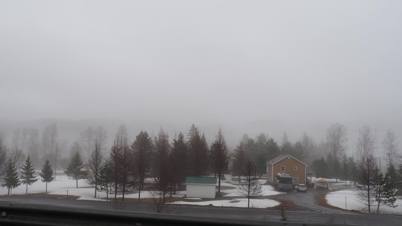 Schnee und schlechtes Wetter in New Brunswick