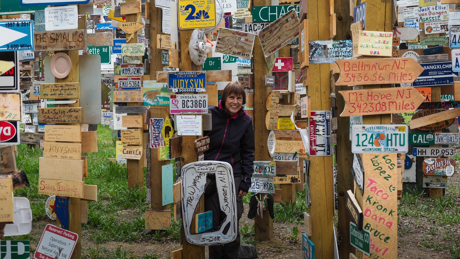 Schilderwald in Watsonlake, Yukon