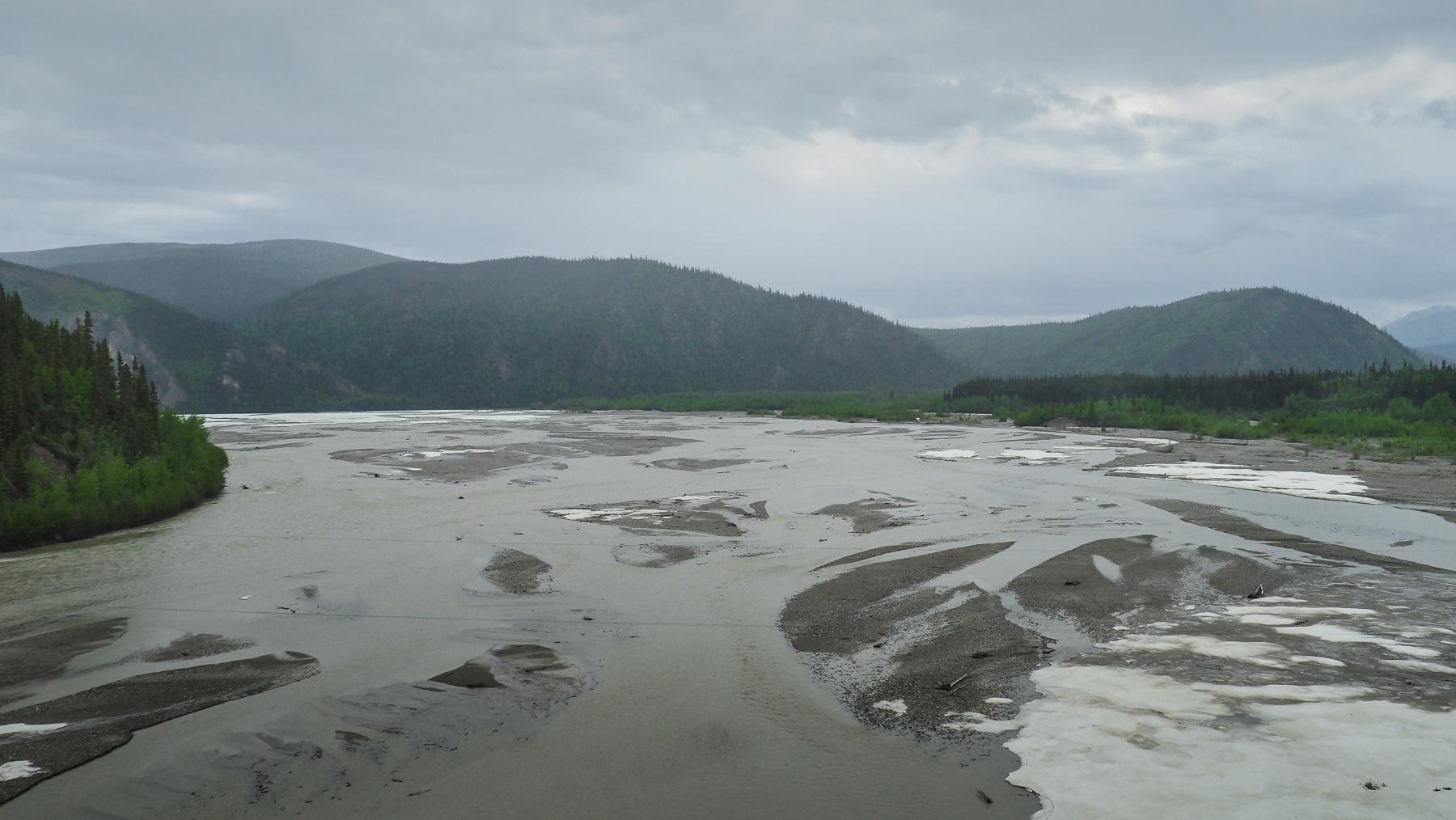 Alaska - die Flüsse hier haben etwas andere Dimensionen (Tanana river)