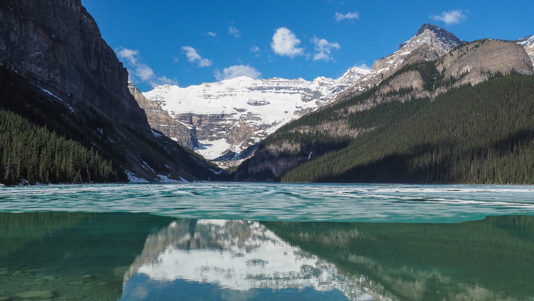 Lake Louise mit Gletscher