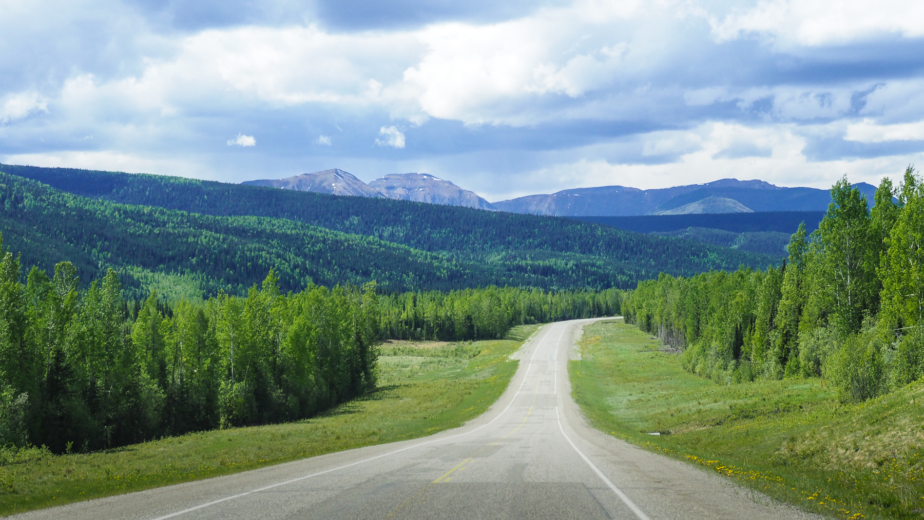 auf dem Alaska Highway nach Norden