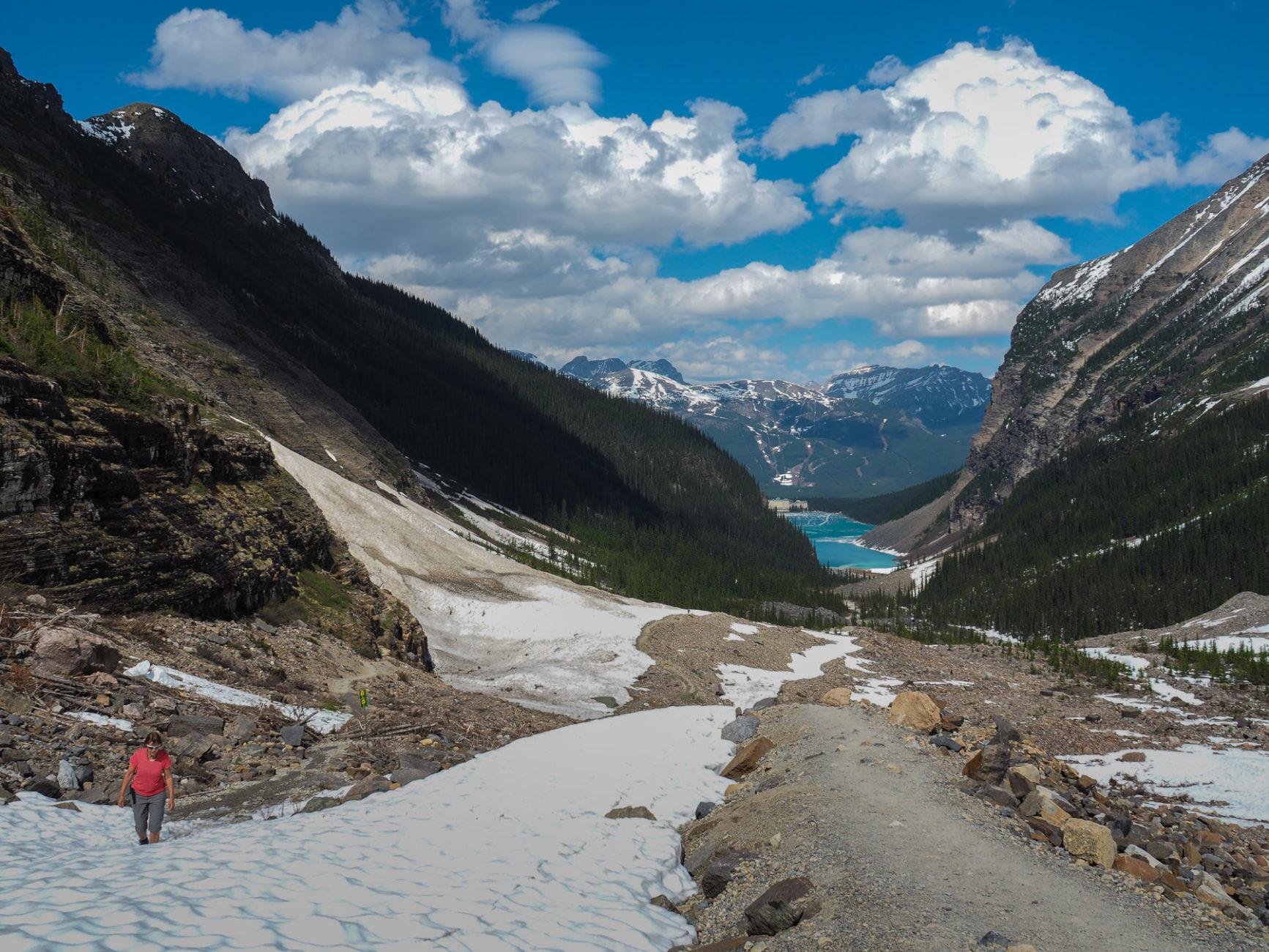 Wanderung zum Plain of six Glaciers