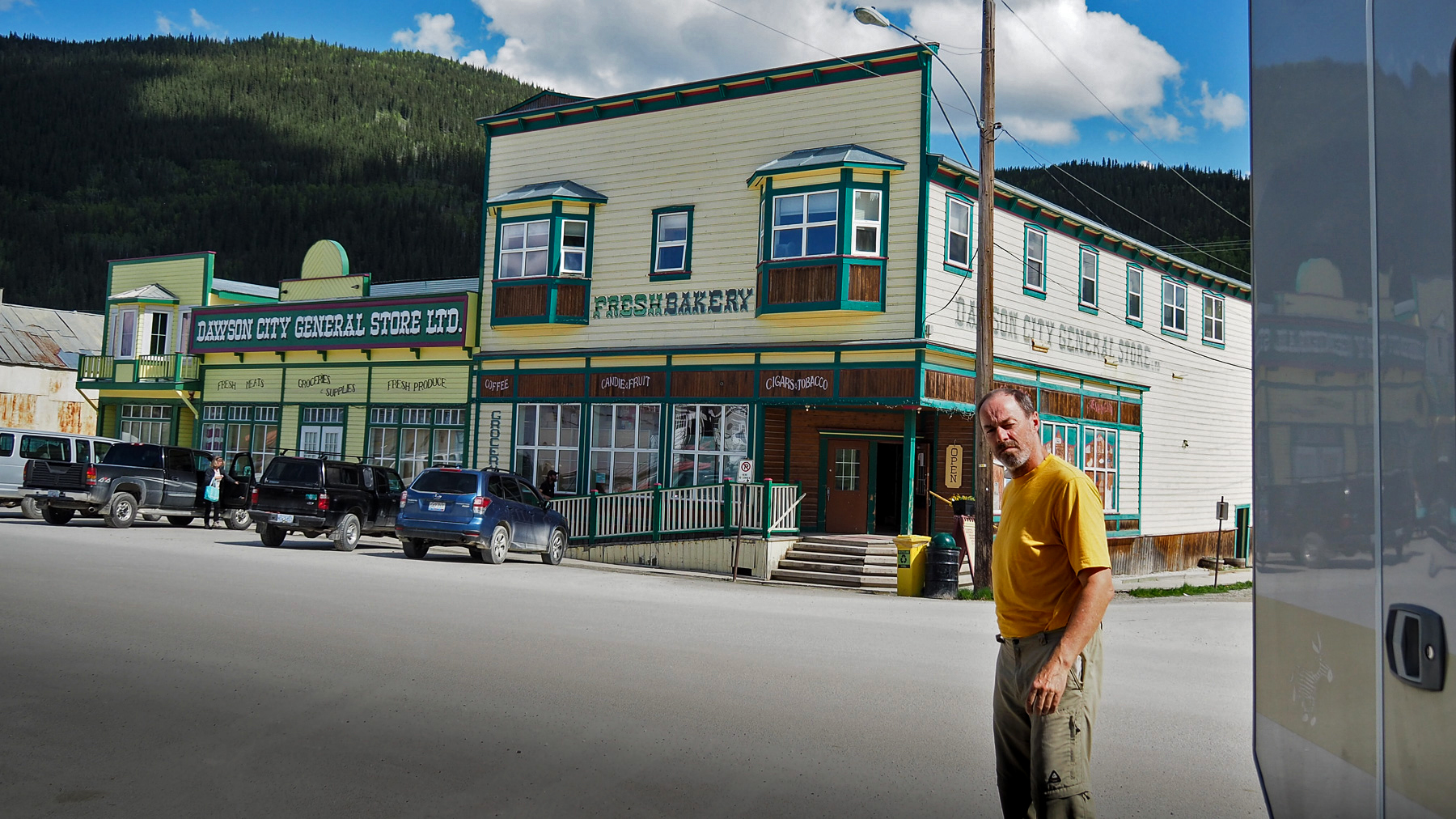 Lichtblick: Bäckerei in Dawson City