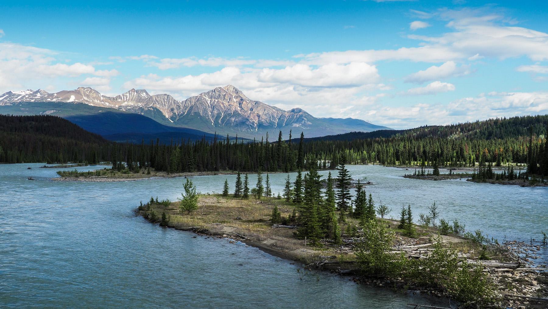 der mächtige Athabasca Strom