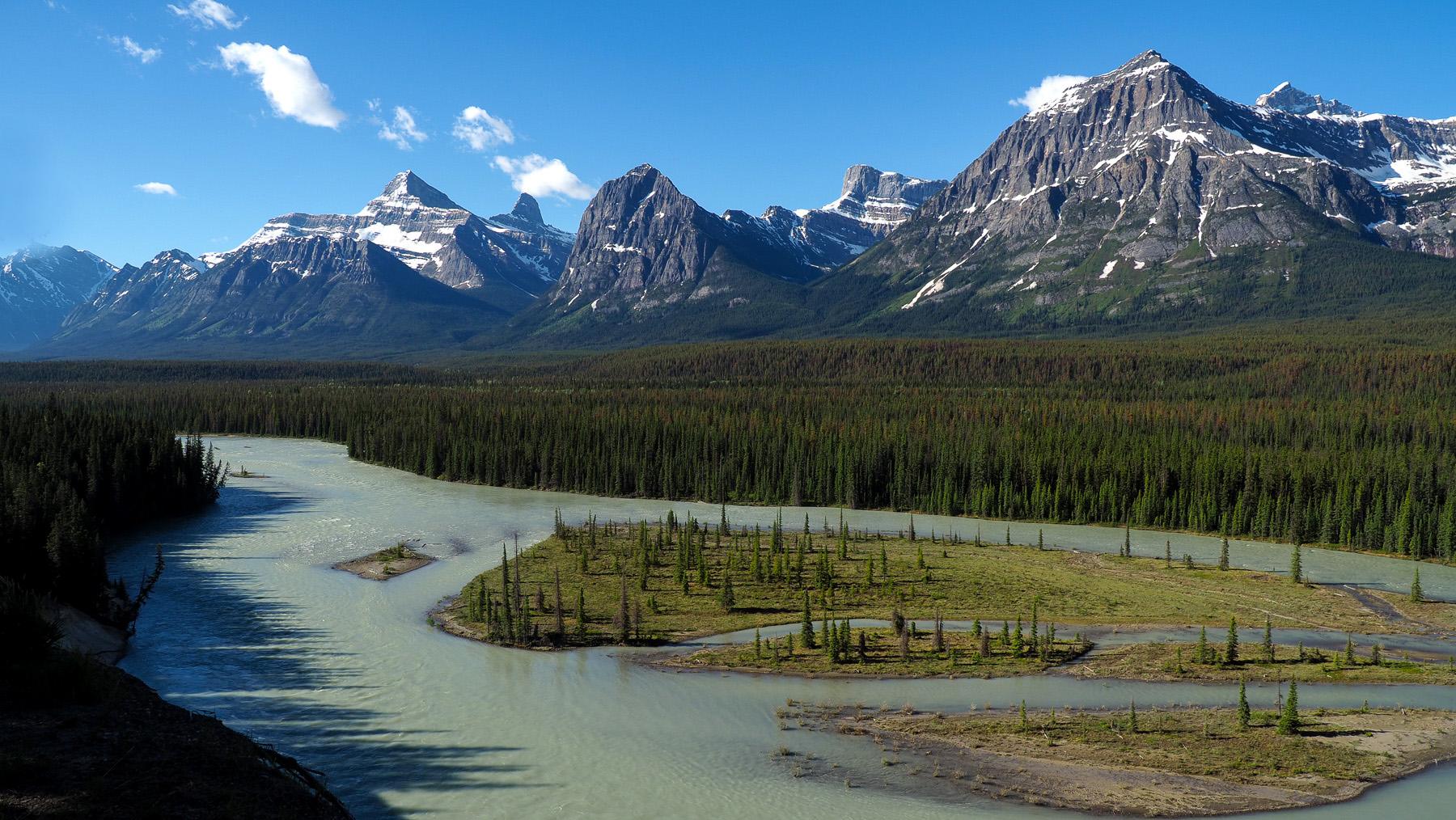 entlang des Athabasca River