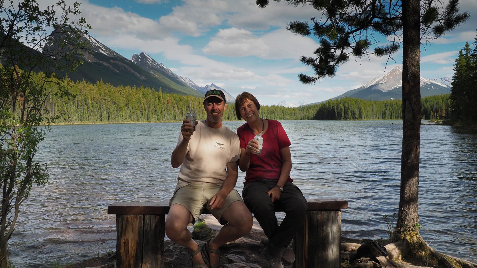 Übernachtungsplatz am idylischen Honeymoon Lake