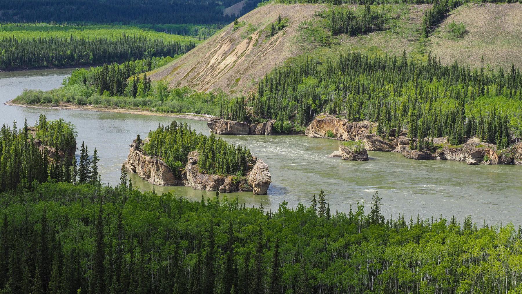 Yukon, die Seven Sisters Stromschnellen