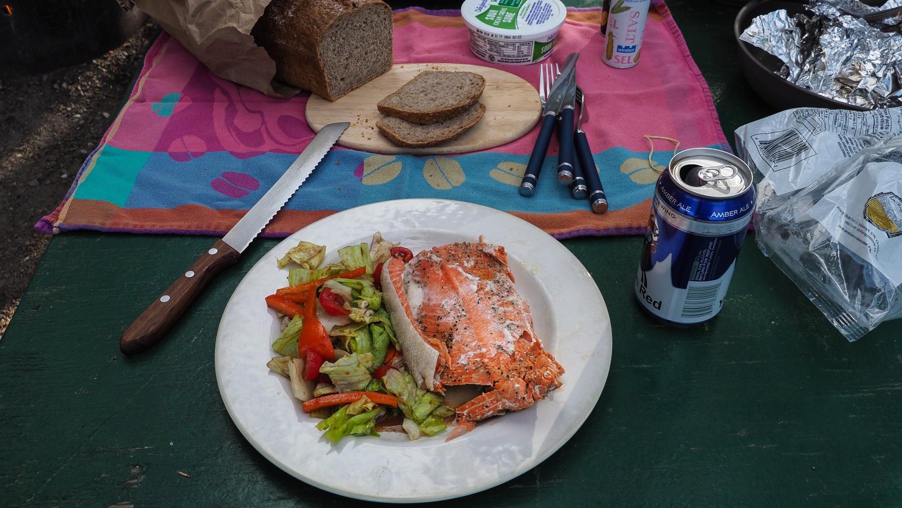 geniales Festmahl mit Wildlachs