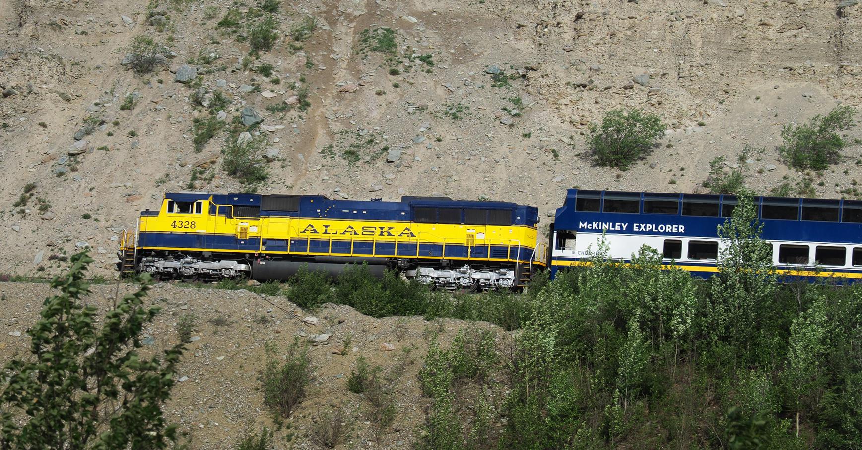 Die Alaska Railway begegnet uns immer wieder