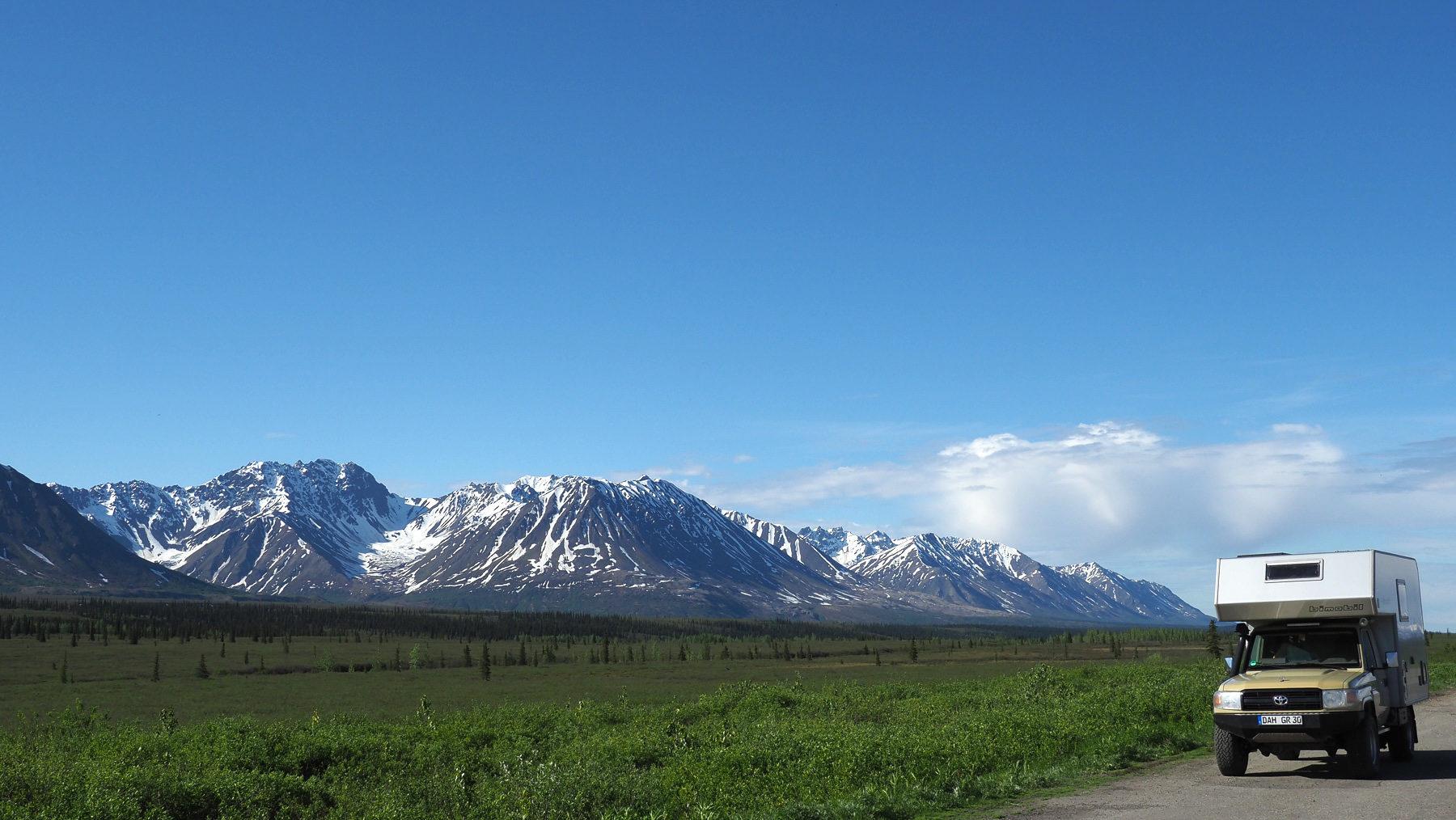 entlang der Alaska Range