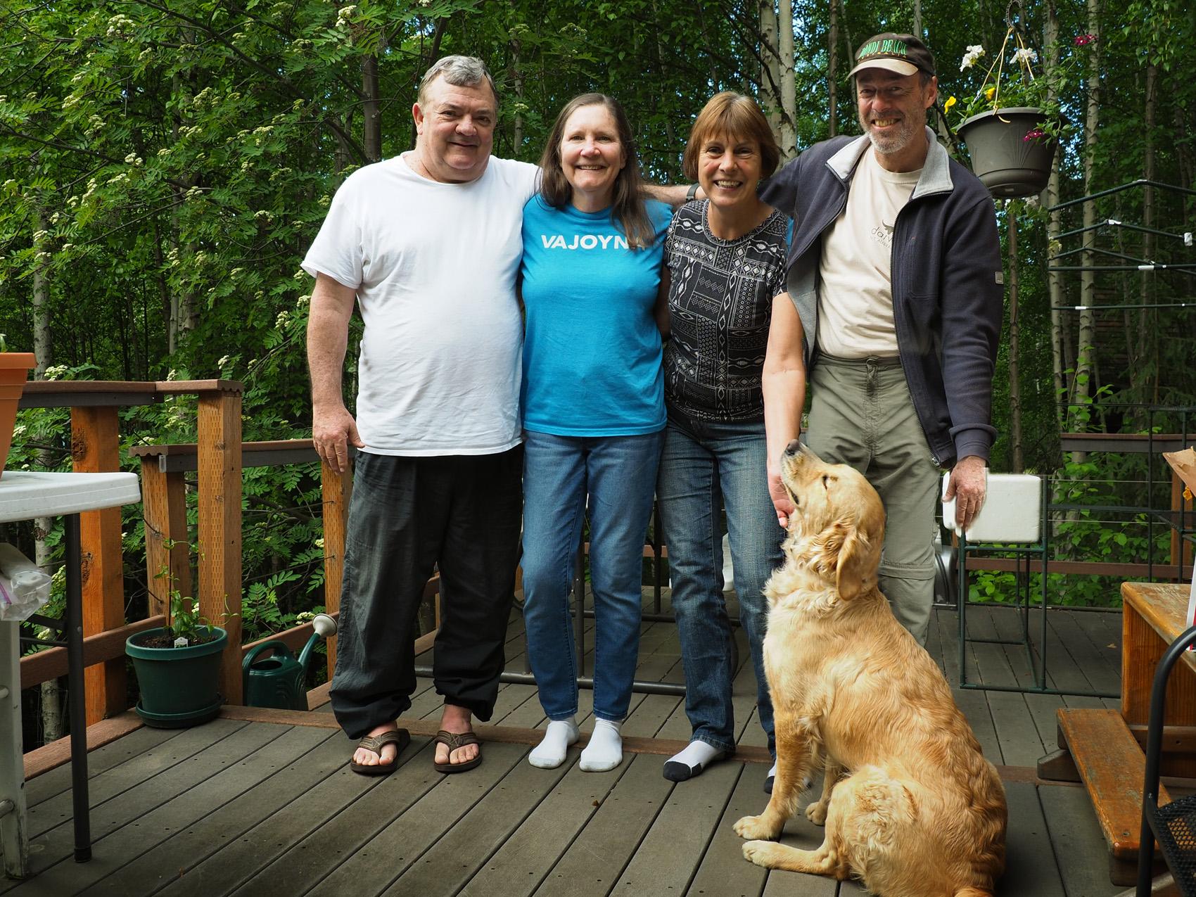 zu Besuch bei Jane und Terry in Fairbanks