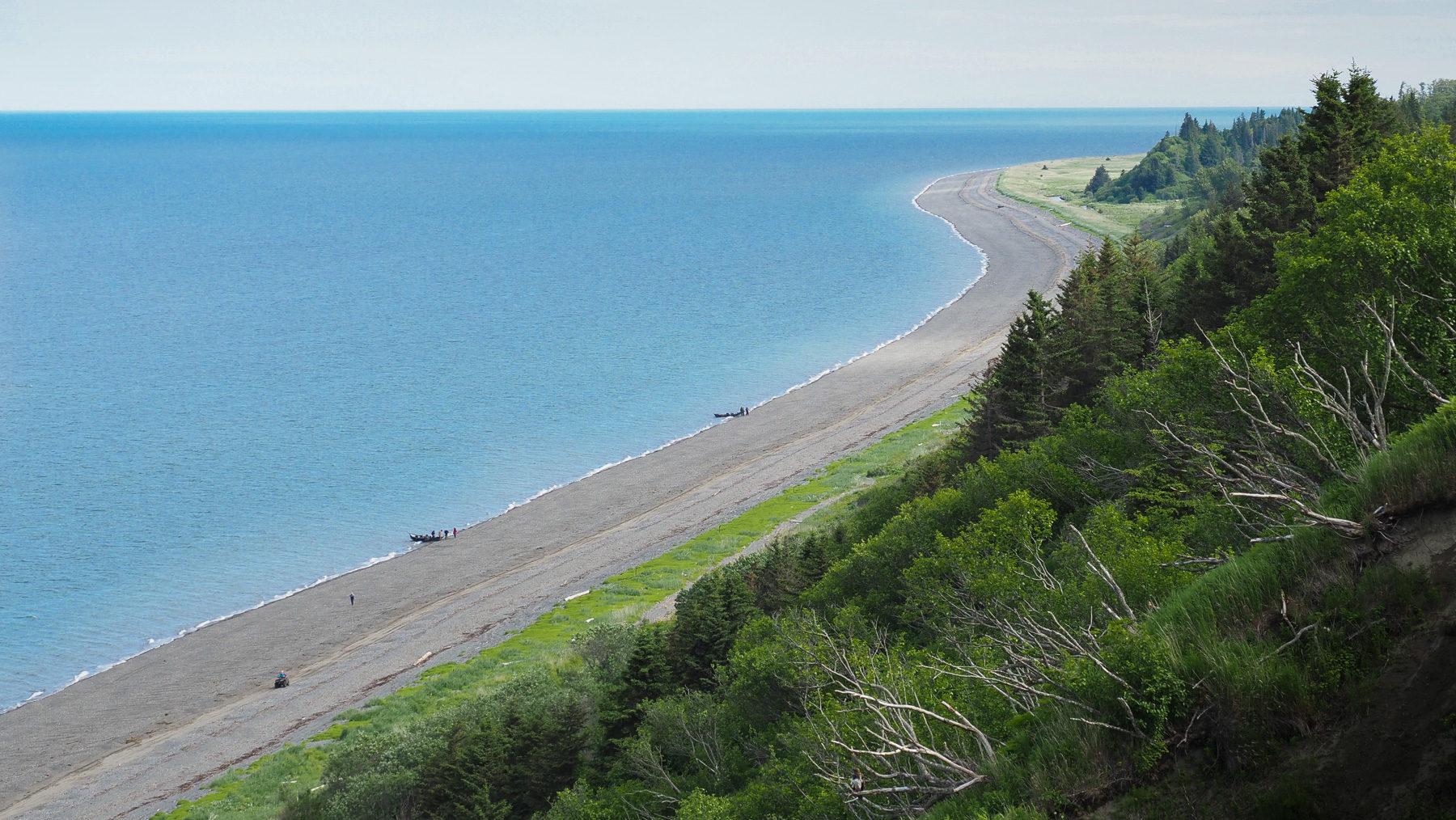 schöner Strand bei Anchor Point, allerdings nur 12 Grad