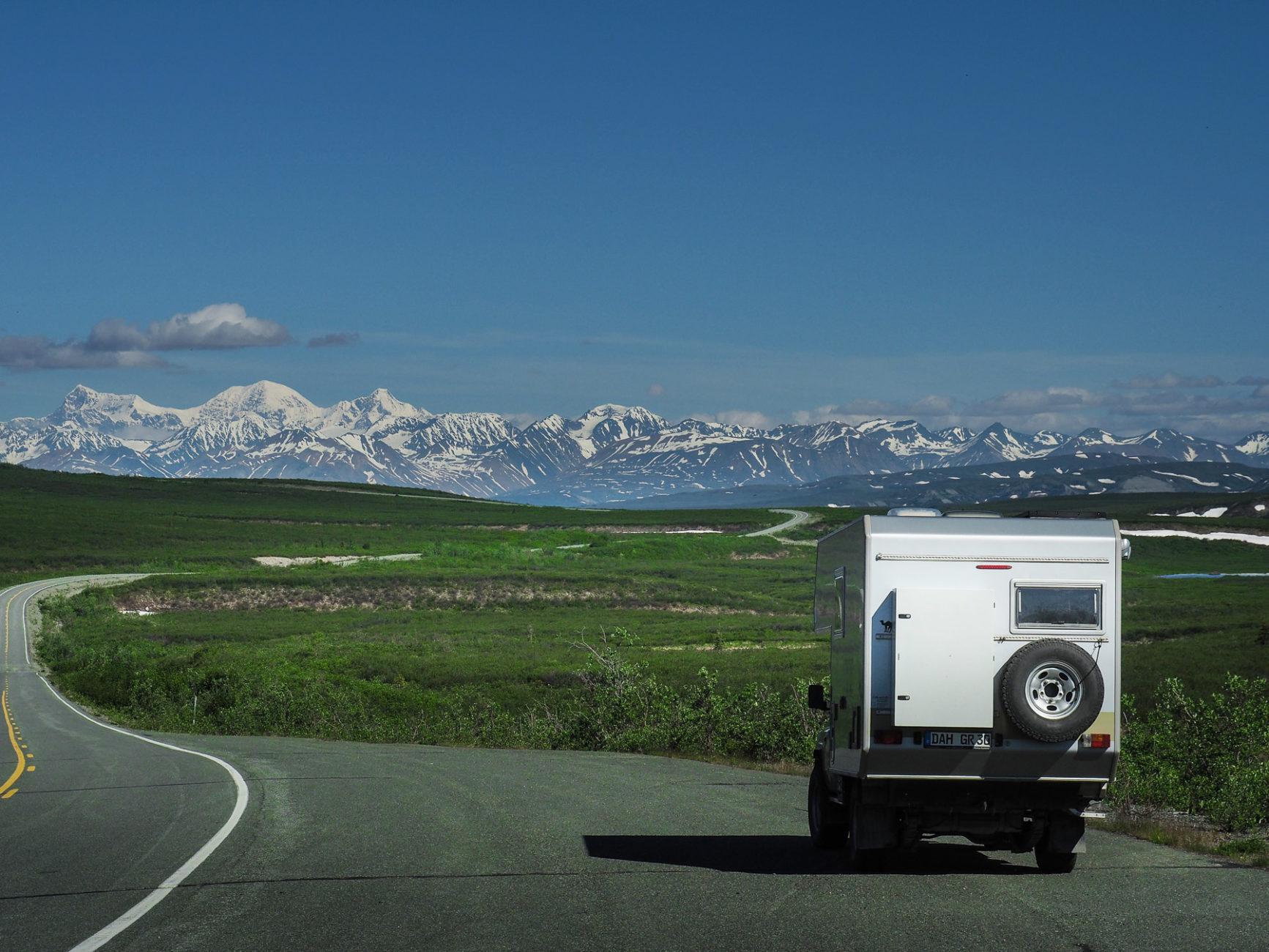 unterwegs auf dem spektakulären Denali Highway