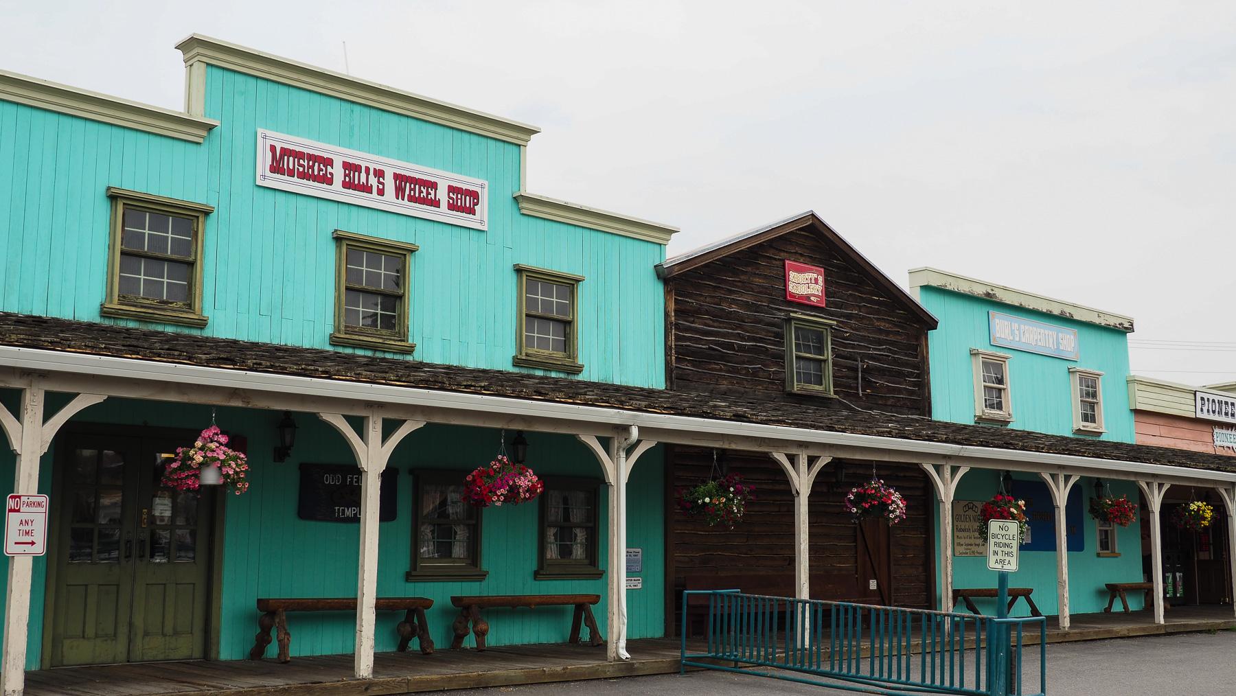 Fairbanks Pioneer Park, restaurierte alte Häuser