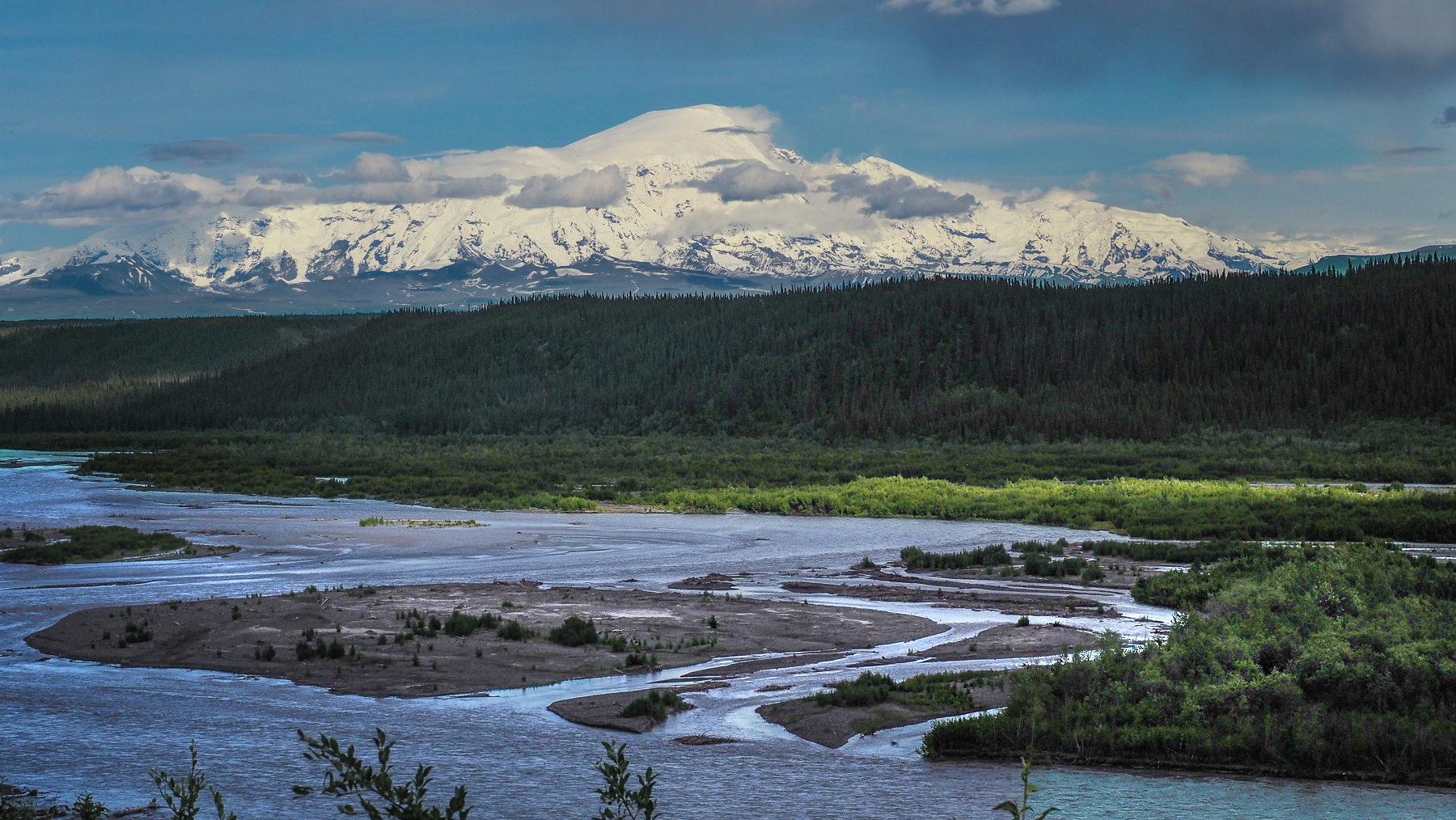 typische Landschaft in Alaska