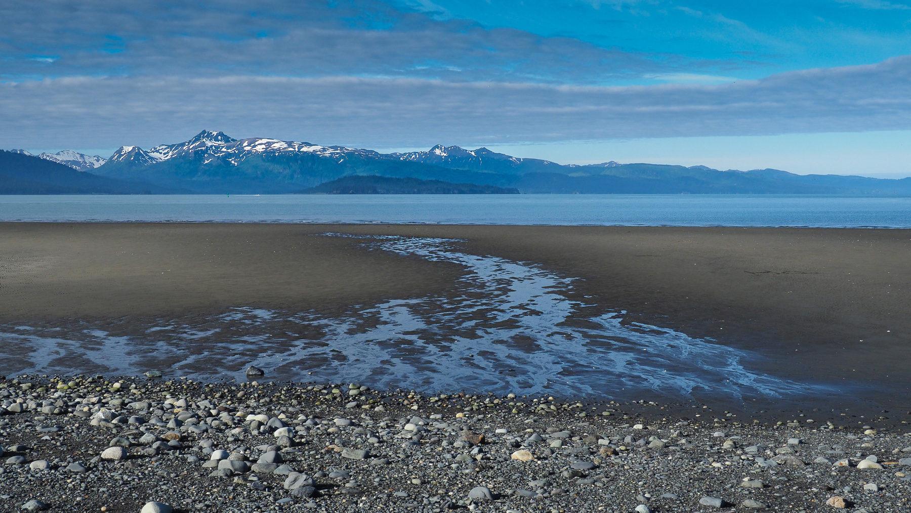 Ebbe an der Pazifik Küste Richtung Turnagain Arm