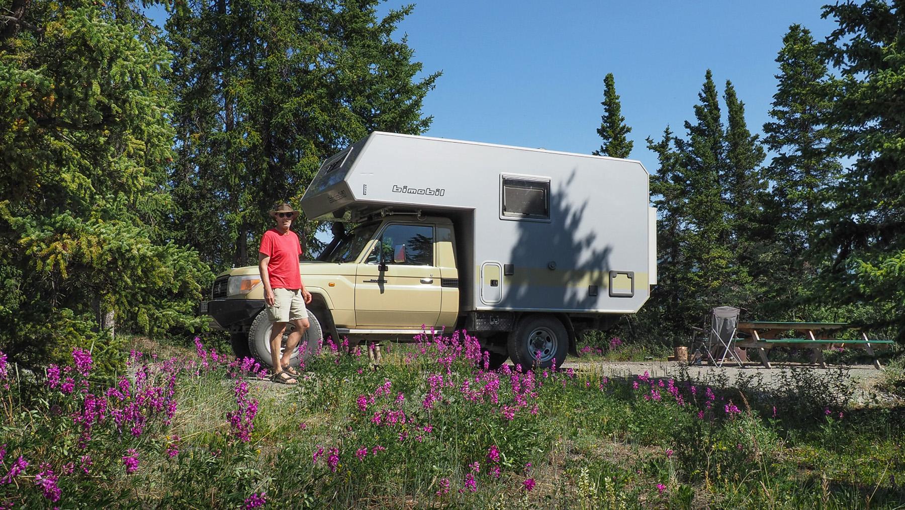 herrliche Campingplätze auf dem Weg nach Süden in Kanada