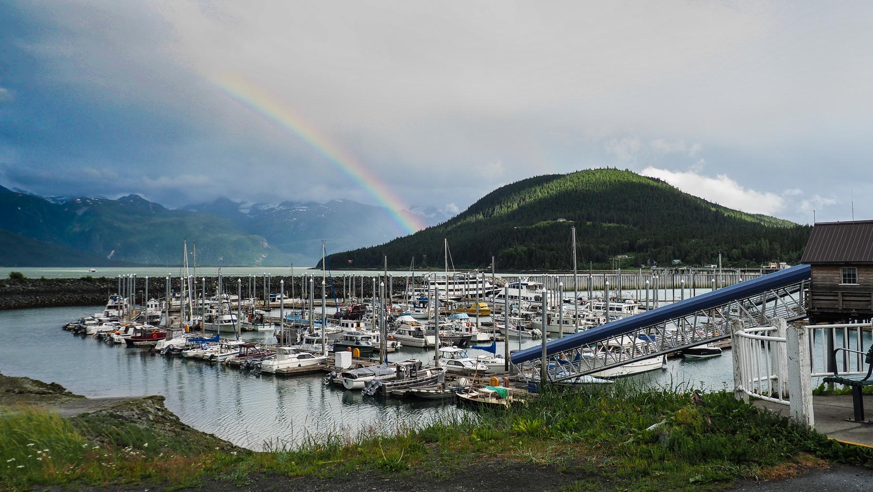 Hafen von Haines - wieder in Alaska