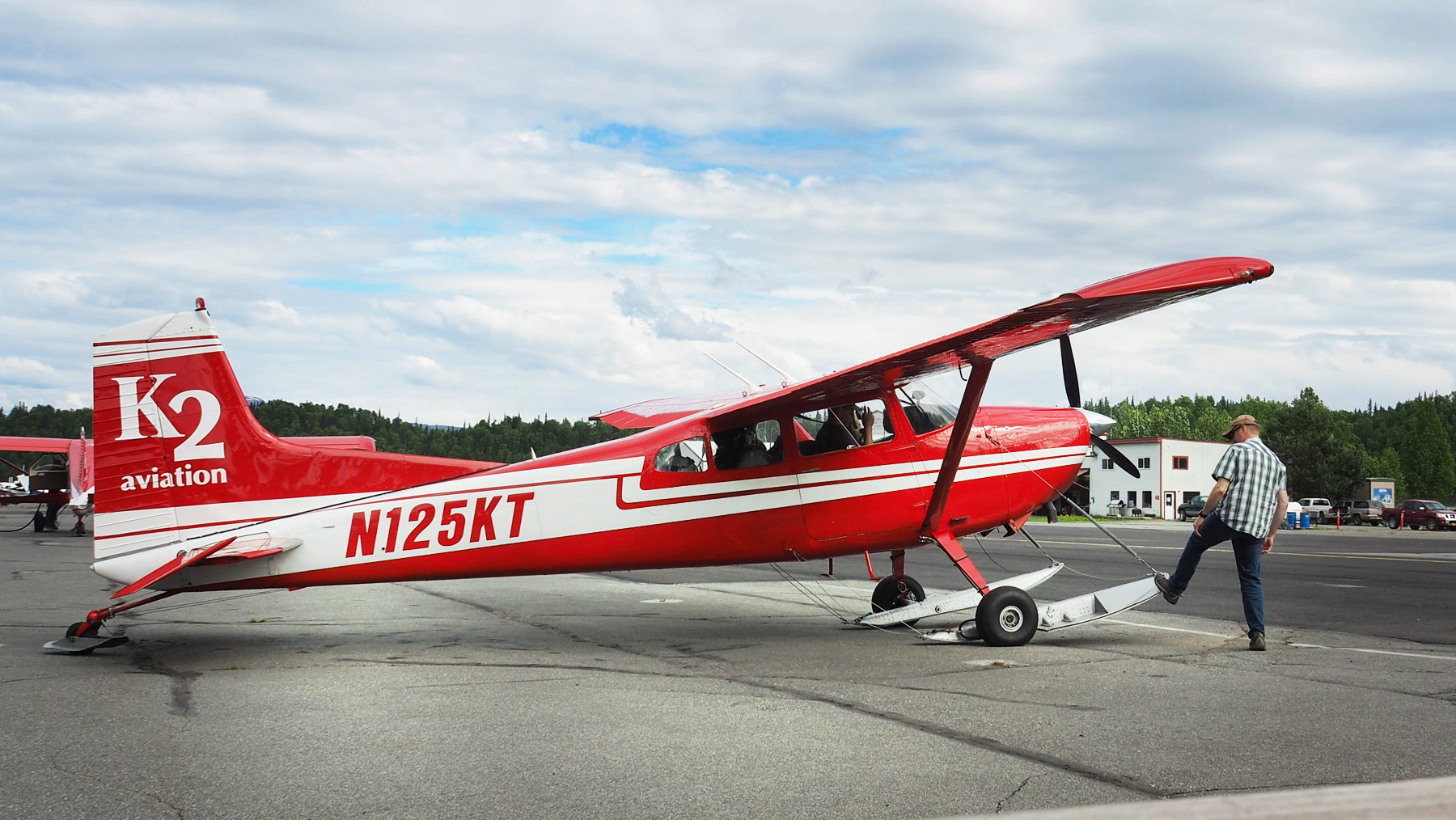 Flug von Talkeetna über die Denali Range