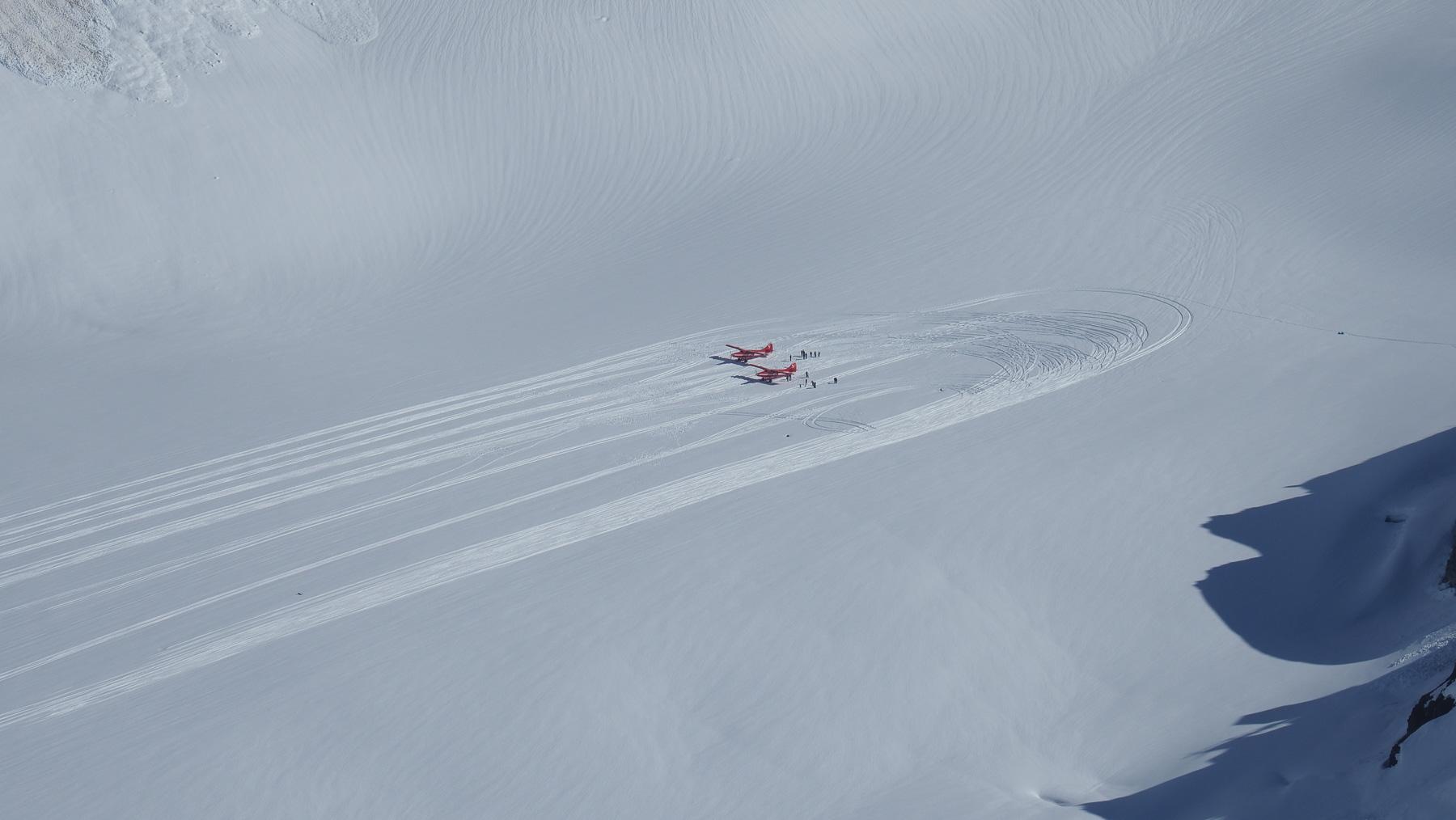 Gletscherlandungen mit der Cessna