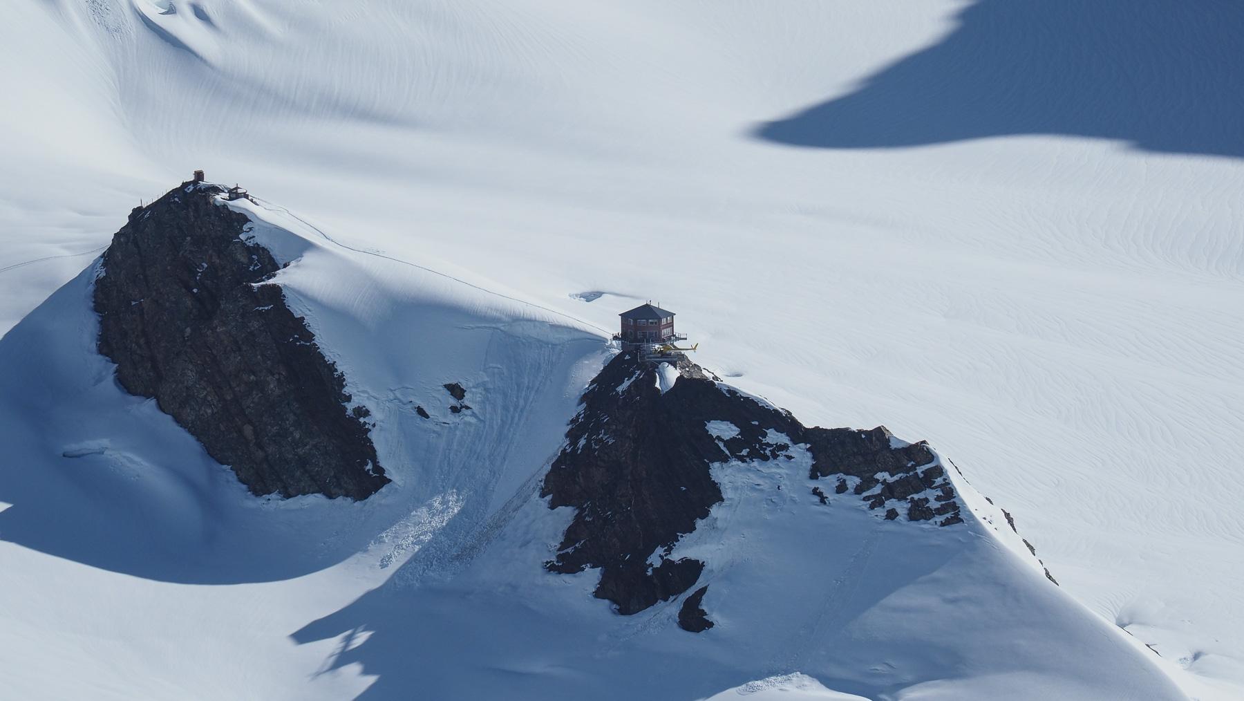 kühnes Luxus-Chalet über dem Gletscher