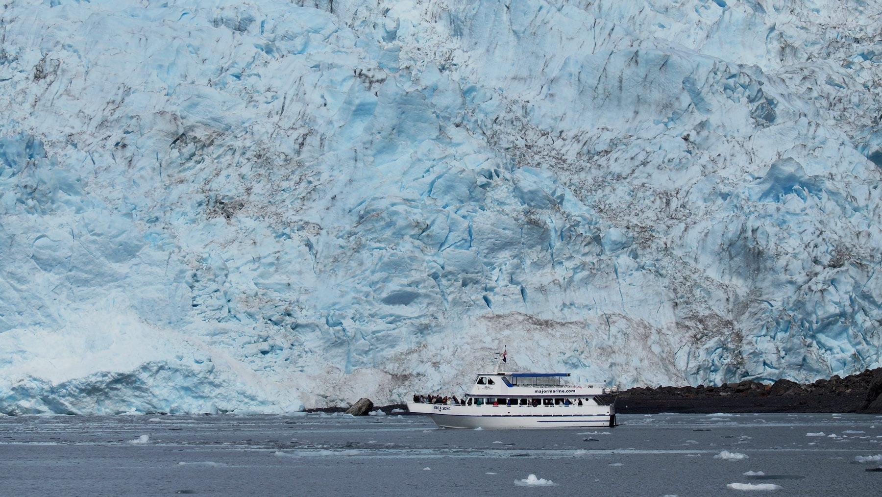 Bootsfahrt zum Holgate Gletscher