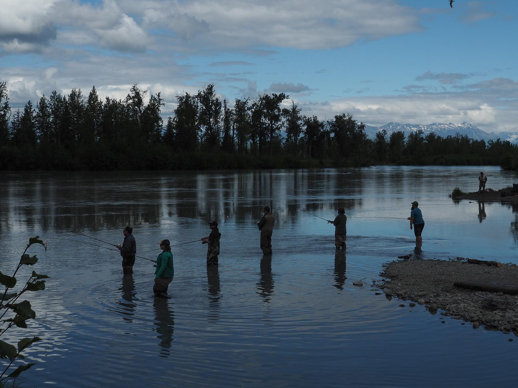Angler am Kenai River, Volkssport Nr.1