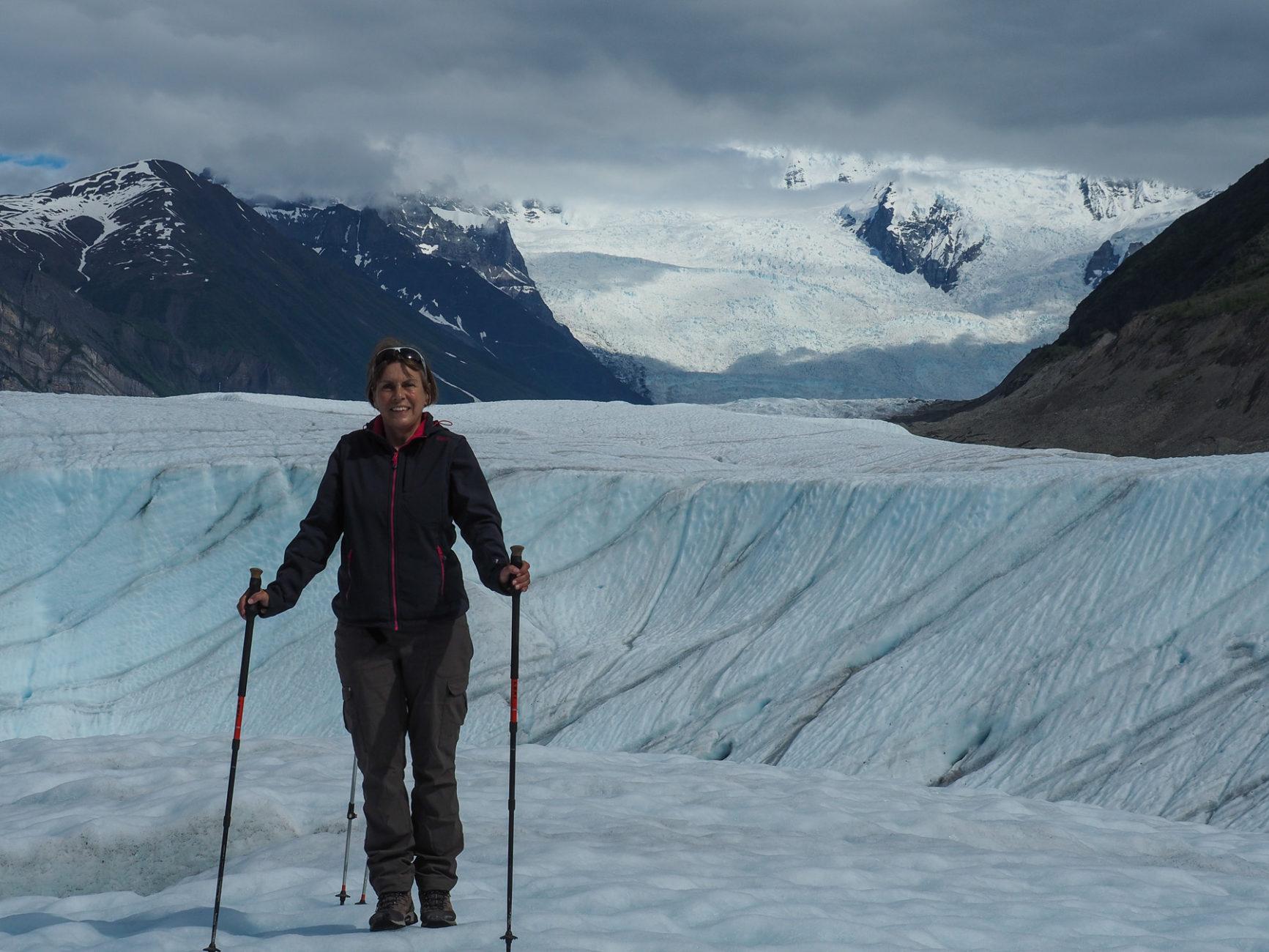 man kann gut auf dem Eis laufen