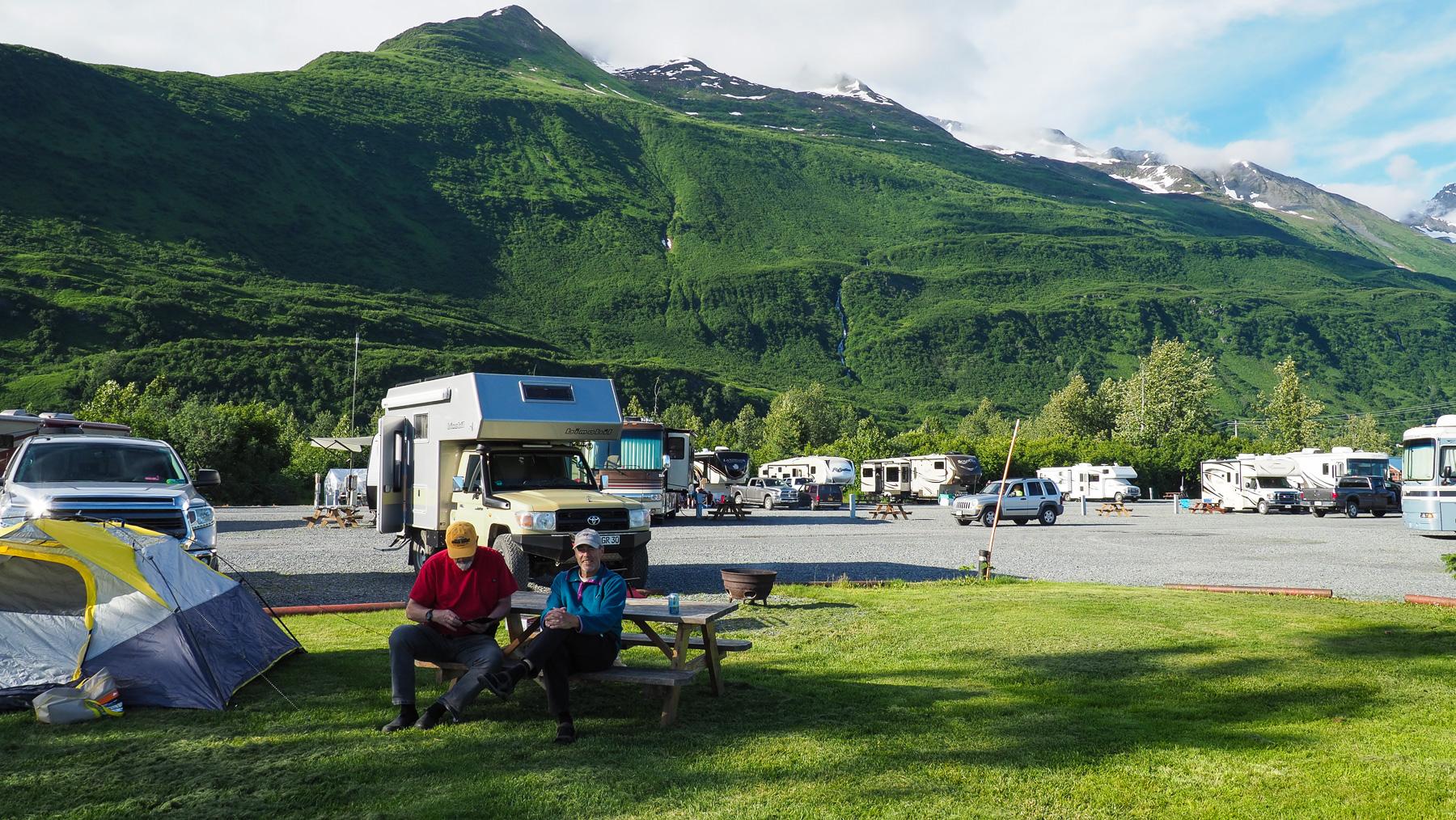 ..und schöner Campingplatz  in Valdez
