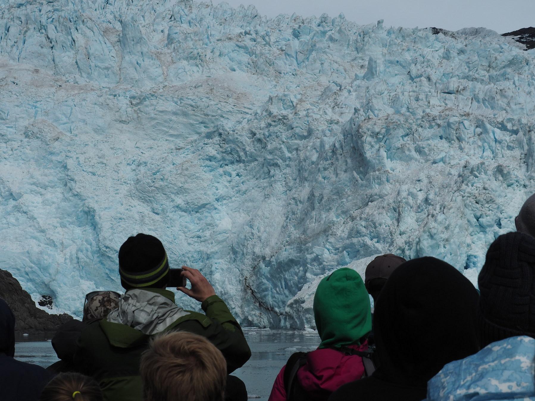 ganz nah am Gletscher
