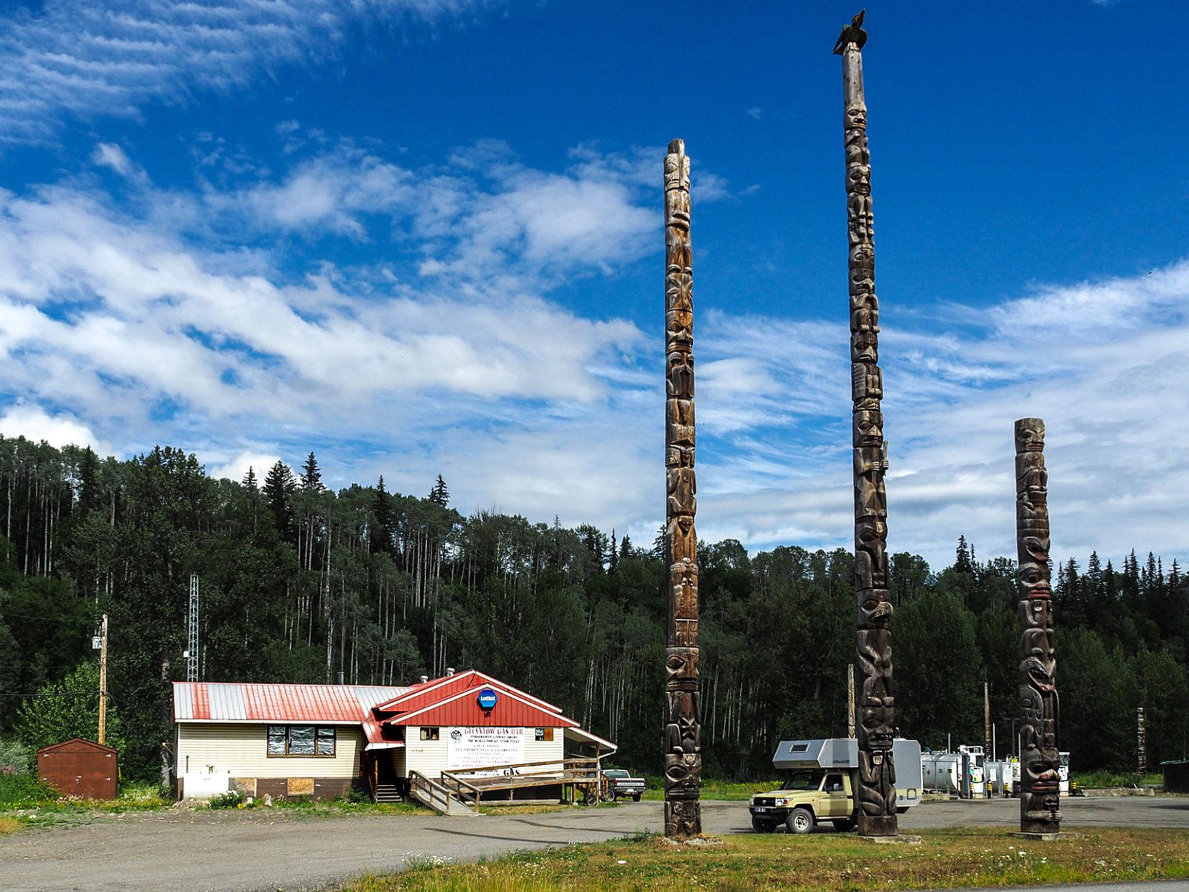 Tankstelle im Kispiox Indianerdorf