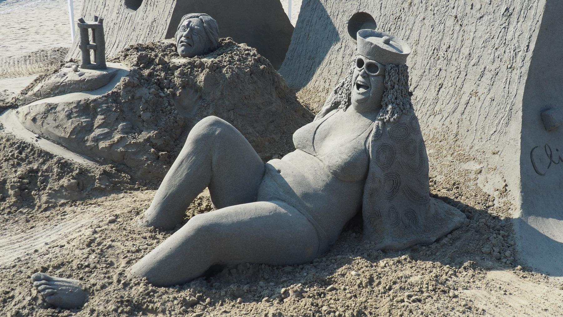 Sandskulpturen Wettbewerb in Parkville, Touristen Hochburg an der Ostküste