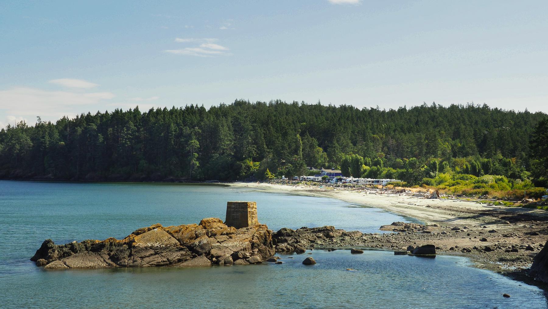 entspannte Tage am Strand von Weir's Beach Campground im Süden von V.Island