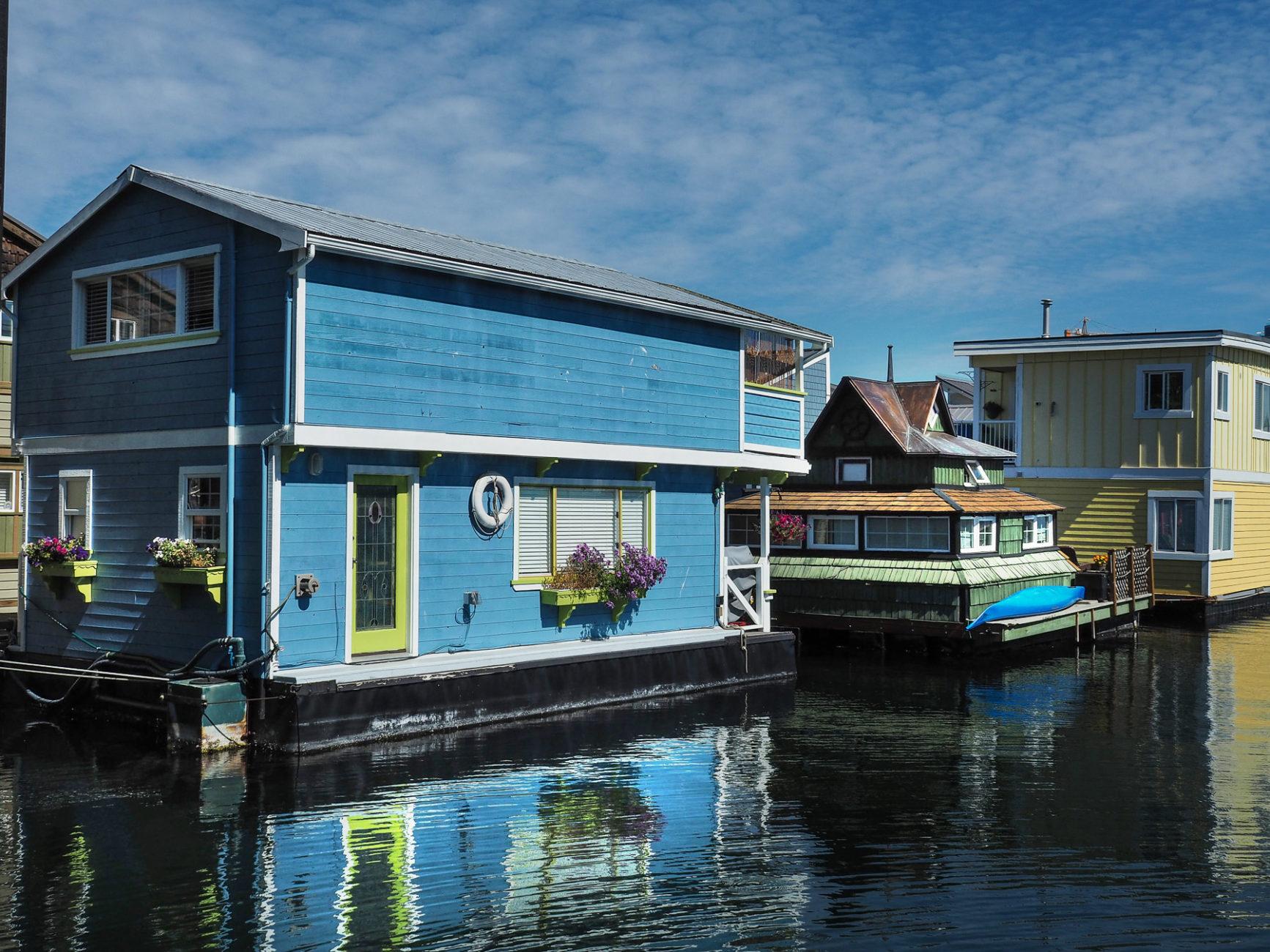 bewohnte Hausboote