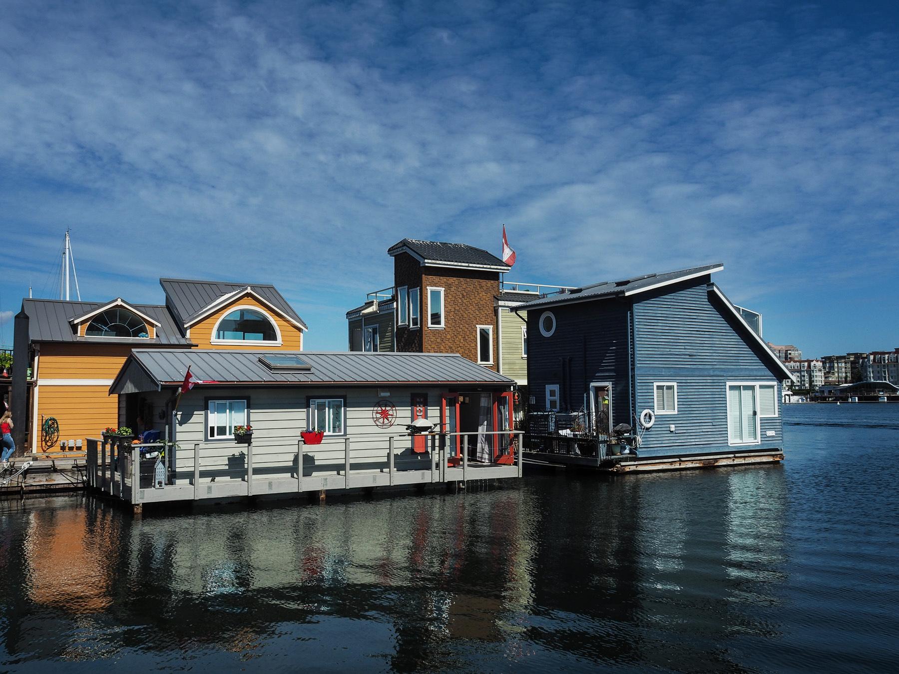 Hausboote im Hafen von Victoria