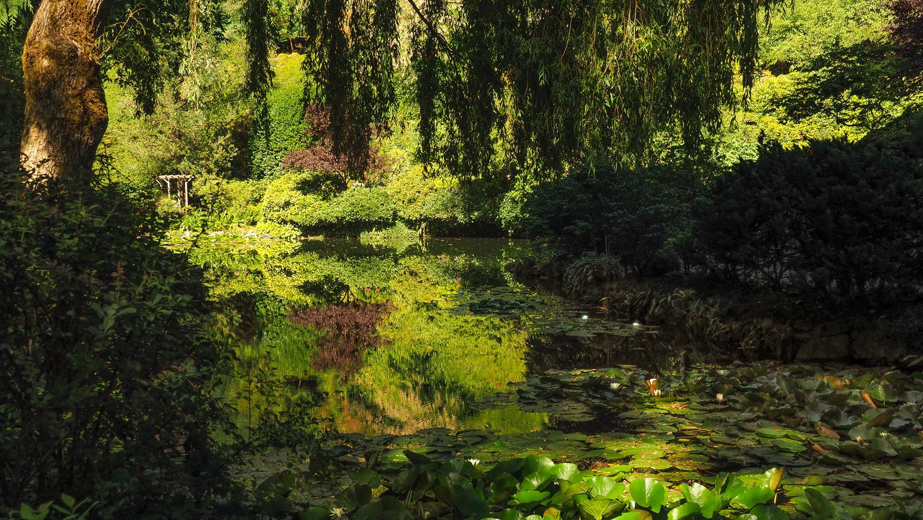 Butchart Gardens, schön angelegter Garten