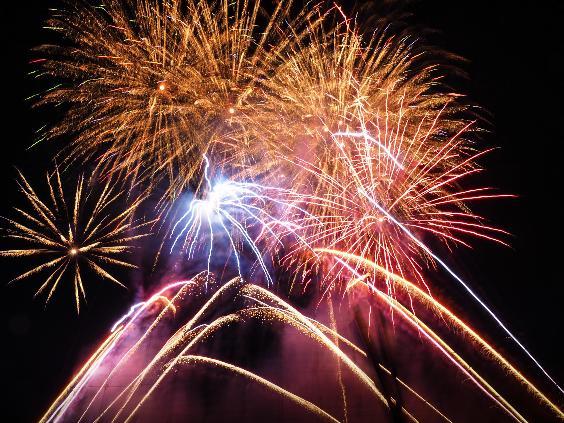Feuerwerk in Butchart Gardens