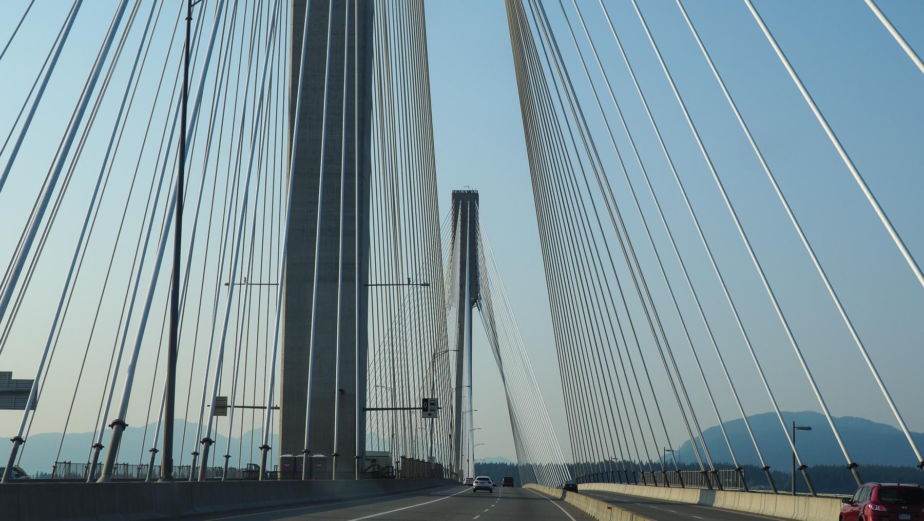 Port Mann Bridge, Vancouver, Richtung Horseshoe Bay zur Fähre