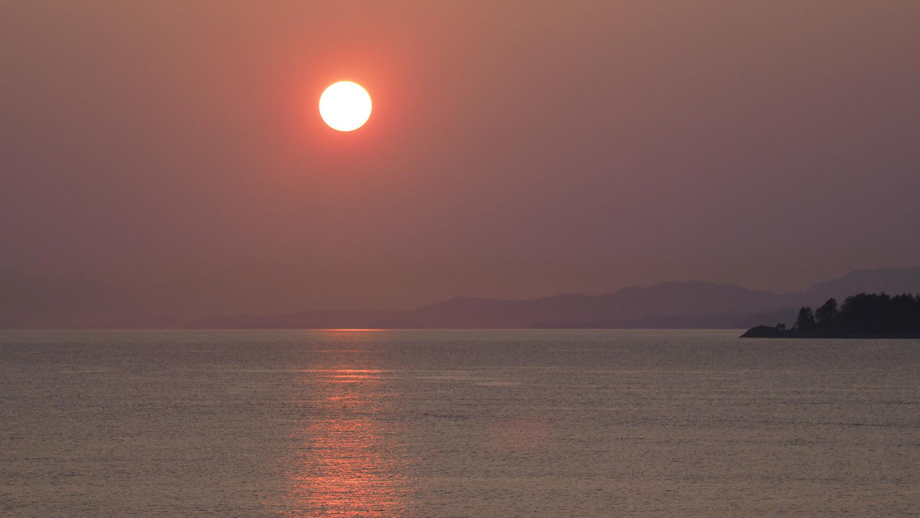 ..und Sonnenuntergang