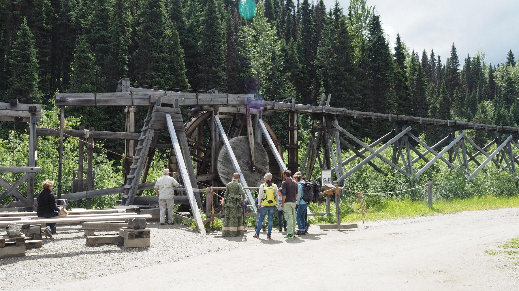 Wasserrad Konstrukt in Barkerville