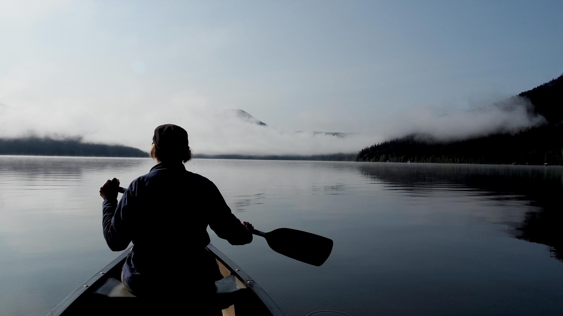 Start zur Paddeltour am Bowron Lake
