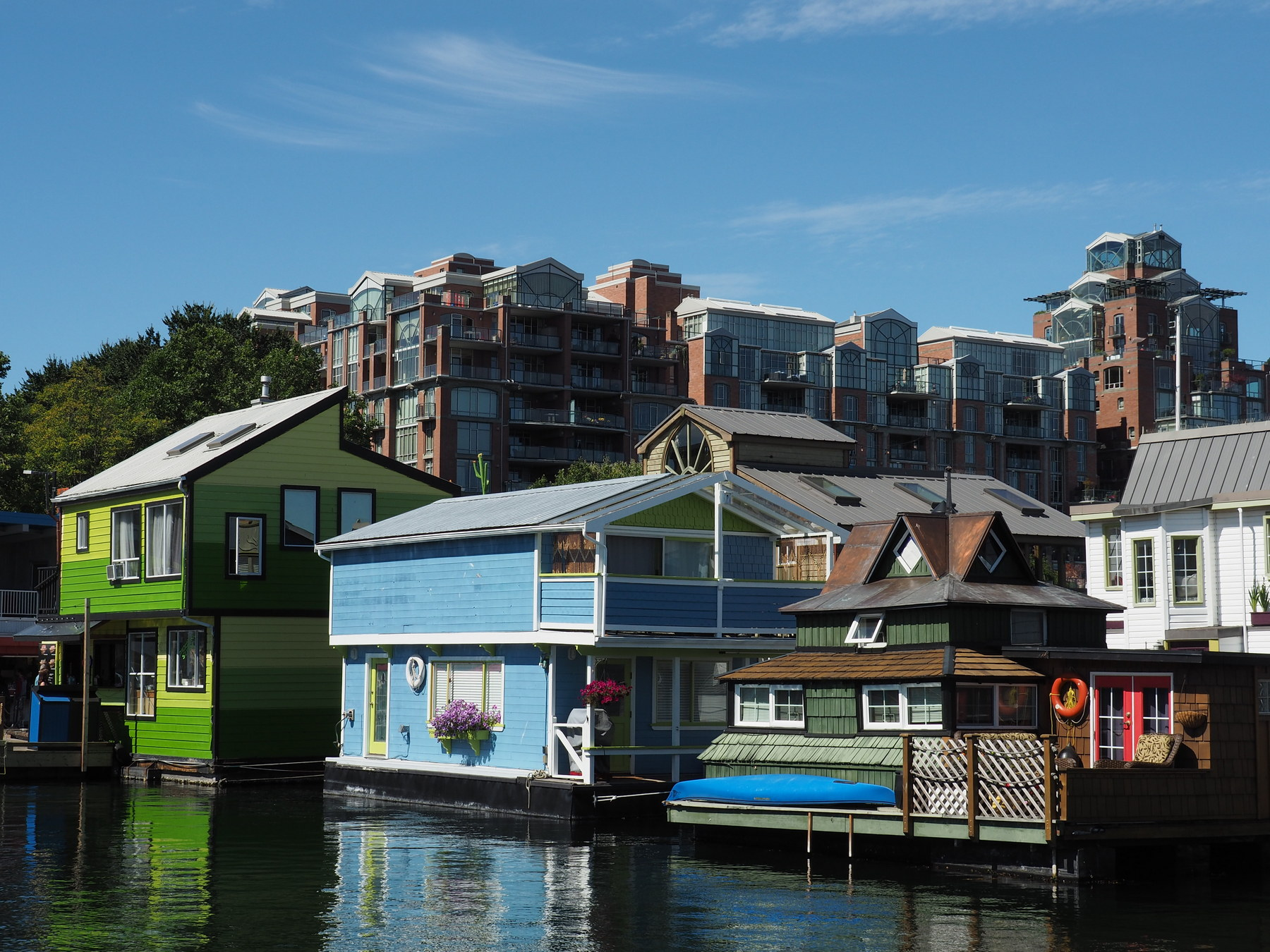 Individuelle Hausboote am Fishermans Wharf