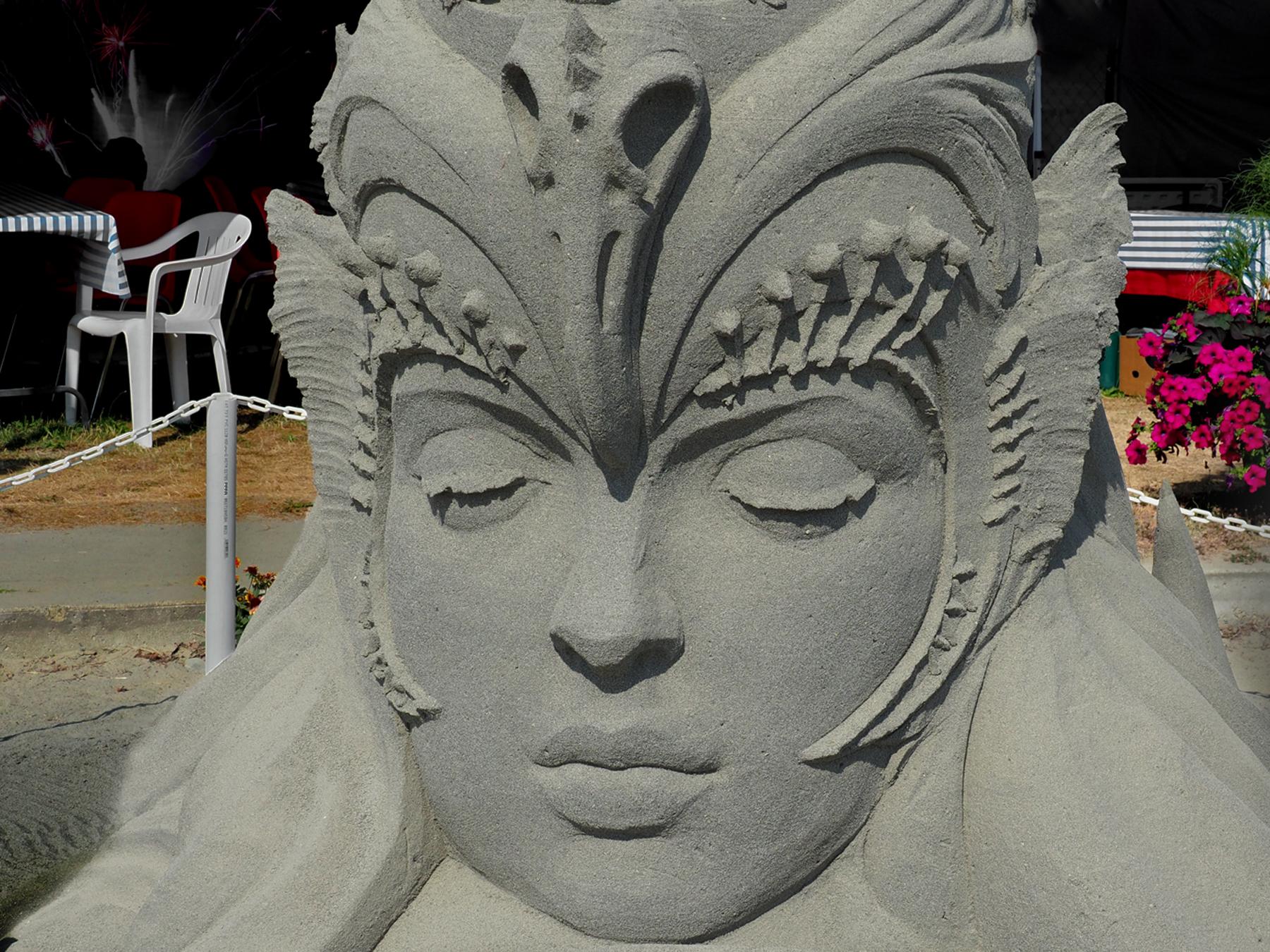 Kunstwerk aus Sand