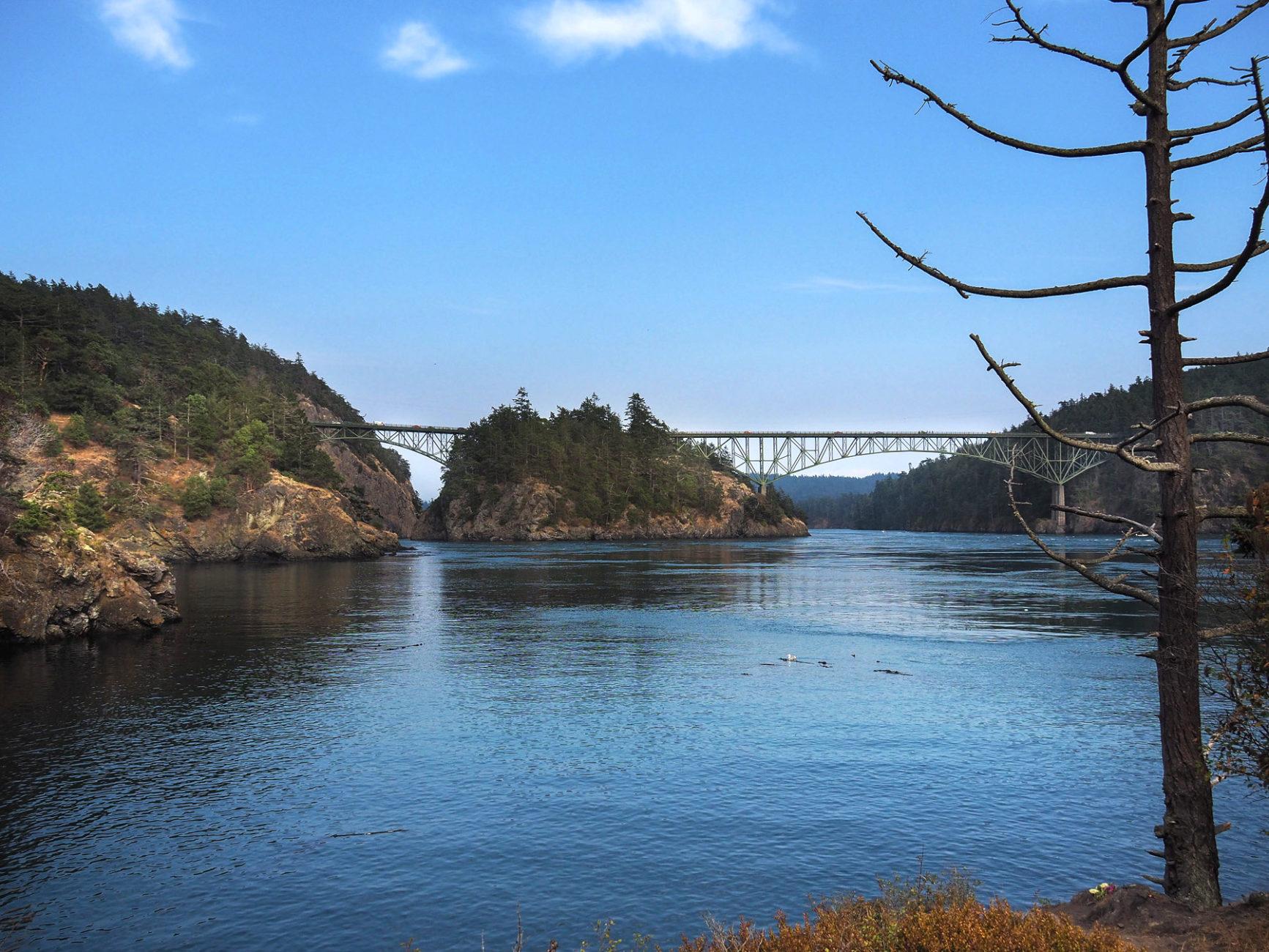 Washington, Desception Bay, wunderschöne Küste und Campingplatz